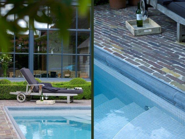 Zwembad moza ek relaxzwembaden - Zwembad betegeld grijs ...