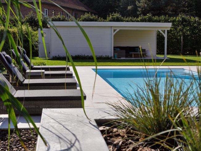 Zwembad witte liner relaxzwembaden