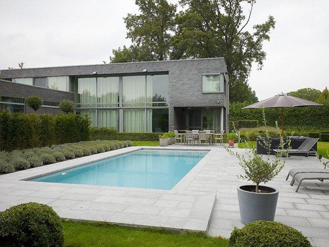 Zwembad grijze liner relaxzwembaden - Zwembad betegeld grijs ...